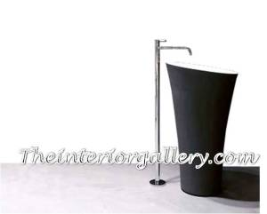 black pedestal sink