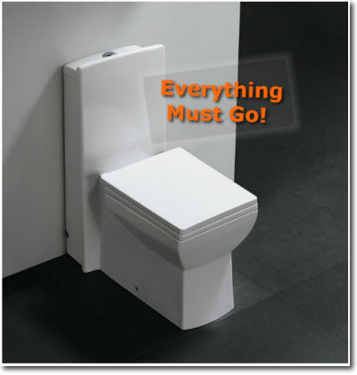 Everything must go! Funny toilet caption
